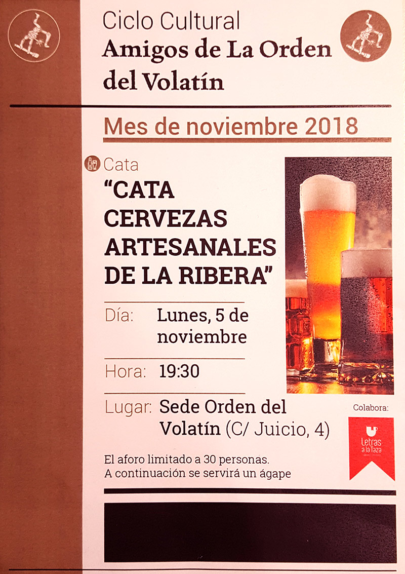 Cata de cervezas artesanales de La Ribera